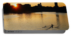 Dawn On The Charles Portable Battery Charger by James Kirkikis