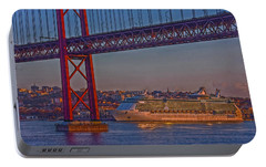 Portable Battery Charger featuring the photograph Dawn On The Harbor by Hanny Heim