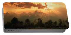 Dawn Teton Range Grand Teton National Portable Battery Charger by Panoramic Images