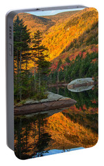 Portable Battery Charger featuring the photograph Dawns Foliage Reflection by Jeff Folger