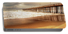 Day At The Pier Large Canvas Art, Canvas Print, Large Art, Large Wall Decor, Home Decor, Photograph Portable Battery Charger by David Millenheft