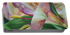 Day Lilies Portable Battery Charger by Jane Girardot