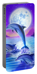 Day Of The Dolphin Portable Battery Charger by Robin Koni