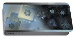 Snowflake Collage - Daybreak Portable Battery Charger