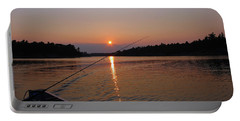 Portable Battery Charger featuring the photograph Sunset Fishing by Debbie Oppermann