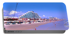 Portable Battery Charger featuring the photograph Daytona Main Street Pier And Beach  by Tom Jelen