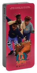De La Soul Portable Battery Charger by Nelson  Dedos Garcia