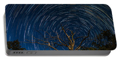 Dead Oak With Star Trails Portable Battery Charger by Paul Freidlund