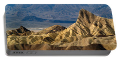 Death Valley Np Zabriskie Point 11 Portable Battery Charger by Jeff Brunton