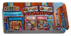 Decarie Hot Dog Restaurant Ville St. Laurent Montreal  Portable Battery Charger