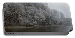 Portable Battery Charger featuring the photograph December Morning On The River by Felicia Tica