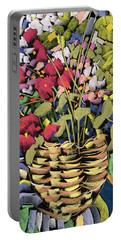 Deco Flowers Portable Battery Charger