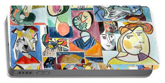 Deconstructing Picasso - Women Sad And Betrayed Portable Battery Charger by Esther Newman-Cohen
