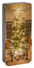 Portable Battery Charger featuring the photograph Decorated Christmas Tree by Alex Grichenko