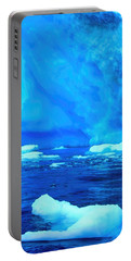 Portable Battery Charger featuring the photograph Deep Blue Iceberg by Amanda Stadther