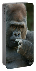 Deep In Thought Portable Battery Charger by Judy Whitton