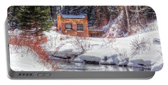 Deep Snow In Spearfish Canyon Portable Battery Charger