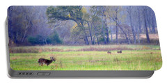 Deer At Cades Cove Portable Battery Charger