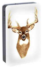 Deer - Front View Portable Battery Charger by Michael Vigliotti