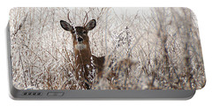 Deer In Winter Portable Battery Charger