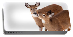 Deer Kisses Portable Battery Charger by Karol Livote