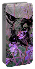 Deer On Flower Portable Battery Charger