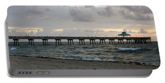 Portable Battery Charger featuring the photograph Deerfield Beach International Fishing Pier Sunrise by Rafael Salazar