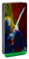 Def Leppard-adrenalize-ga5-vivian-fractal Portable Battery Charger by Gary Gingrich Galleries