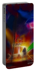 Def Leppard-adrenalize-gf10-fractal Portable Battery Charger