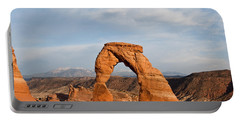 Portable Battery Charger featuring the photograph Delicate Arch At Sunset by Jeff Goulden
