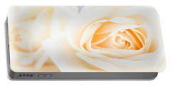 Delicate Beige Roses Portable Battery Charger