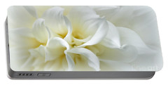 Delicate White Softness Portable Battery Charger