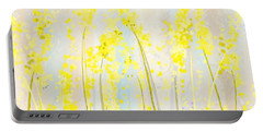 Delicately Soft- Yellow And Cream Art Portable Battery Charger