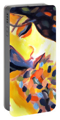 Portable Battery Charger featuring the painting Delight by Helena Wierzbicki