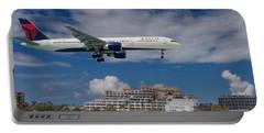 Delta Air Lines Landing At St. Maarten Portable Battery Charger