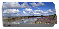 Portable Battery Charger featuring the photograph Delta Junction Summer by Cathy Mahnke