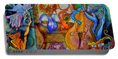 Demon Cats Portable Battery Charger by Beverley Harper Tinsley
