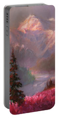 Denali Summer - Alaskan Mountains In Summer Portable Battery Charger by Karen Whitworth