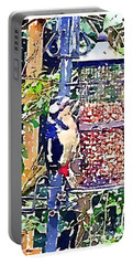 Dendrocopos Major 'great Spotted Woodpecker' Portable Battery Charger