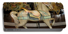 Portable Battery Charger featuring the photograph Dentzel Menagerie Carousel Horse by Rose Santuci-Sofranko