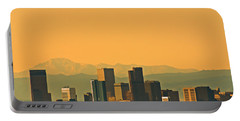 Denver Skyline Portable Battery Charger by Colleen Coccia