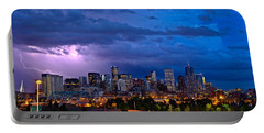 Denver Skyline Portable Battery Charger by John K Sampson
