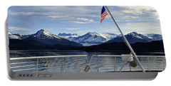 Departing Auke Bay Portable Battery Charger by Cathy Mahnke