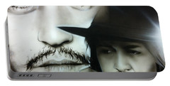 Johnny Depp - ' Depp ' Portable Battery Charger by Christian Chapman Art