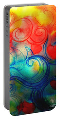 Portable Battery Charger featuring the painting Depths Of His Love by Hazel Holland