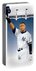 Derek Jeter 3000 Hits Portable Battery Charger by Scott Weigner