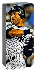 Derek Jeter In Action Portable Battery Charger