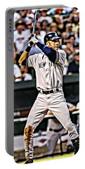 Derek Jeter Painting Portable Battery Charger