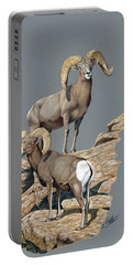 Desert Bighorn Rams Portable Battery Charger