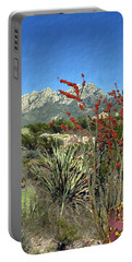 Desert Bloom Portable Battery Charger